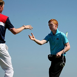 GB&I's Gavin Moynihan during Sunday foursomes of the 2013 Walker Cup at National Golf Links of America in Southampton, N.Y.