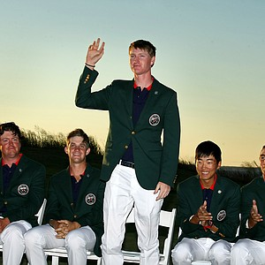 Jordan Niebrugge during the closing ceremony at the 2013 Walker Cup at National Golf Links of America in Southampton, N.Y.
