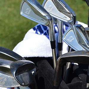 Brandt Snedeker uses Bridgestone J40 Cavity Back irons and J40 wedges. He had two 52-degree and two 56-degree wedges in the bag on Tuesday because he's breaking in the grooves of a new pair.