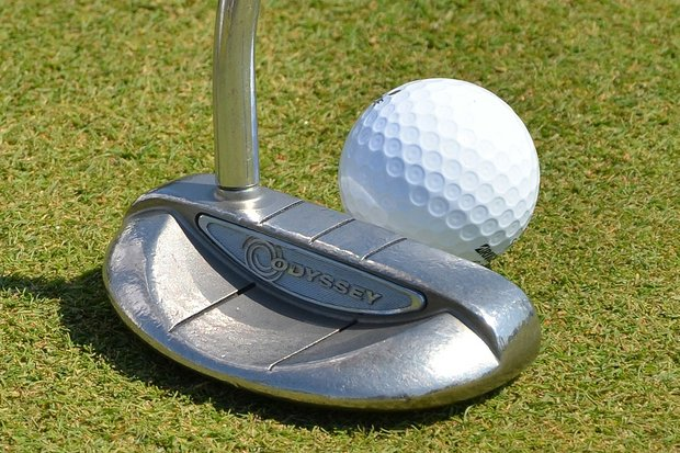 Brandt Snedeker's putter is a rather weathered Odyssey White Hot XG Rossie.