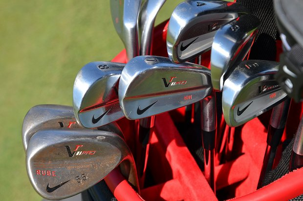 "Nick Watney uses Nike VR Pro Combo irons and VR Pro wedges. His nickname on the PGA Tour is ""Rube."""
