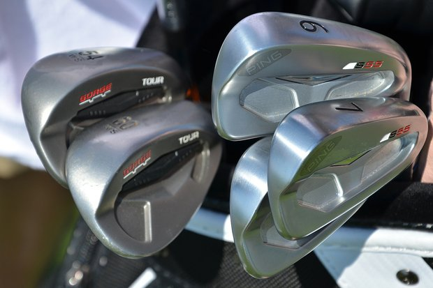 Hunter Mahan recently switched to Ping's S55 irons to complement his Tour Wedges with Gorge Grooves.