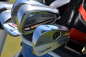 Justin Rose plays TaylorMade's RocketBladez Tour long and mid-irons, but uses Tour Preferred MB short irons.