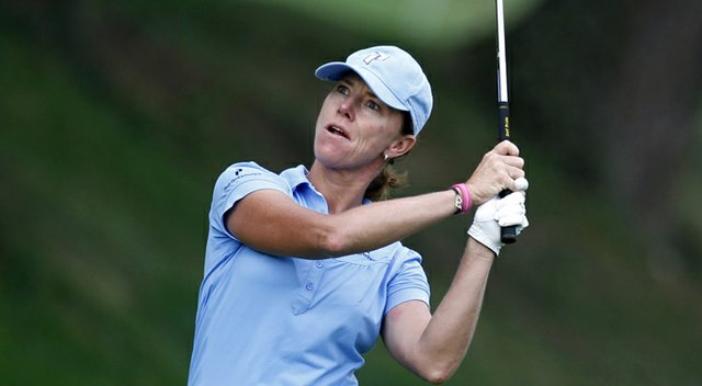 Helen Alfredsson during the 2010 Evian Championship.