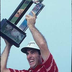 During the third round of the 1991 Las Vegas Invitational at the Sunrise Golf Course, Chip Beck caught fire and shot a 13 under (all birdies) on the par-72 layout. He made the turn, after starting on the back nine, with a 7-under 29. He proceeded to shoot 6 under on the front. (Here he is shown celebrating a win at the 1990 Buick Open.)