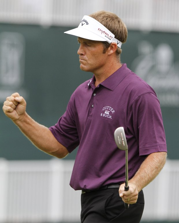 A final round 11-under 59 at the 2010 Greenbrier Classic allowed Stuart Appleby to grab his fifth PGA Tour title in style. He had nine birdies on his front nine, then an eagle and three more birdies on the back nine becoming the fifth player on the PGA Tour to break 60.