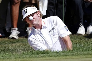 Brandt Snedeker during the third round of the BMW Championship, the third event of the 2013 FedEx Cup playoffs on PGA Tour, at Conway Farms near Chicago.