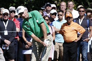 Jim Furyk during the third round of the BMW Championship, the third event of the 2013 FedEx Cup playoffs on PGA Tour, at Conway Farms near Chicago.