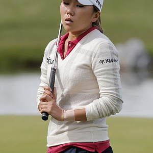 Kim In-Kyung during the second round of the 2013 Evian Championship, the LPGA's fifth major.