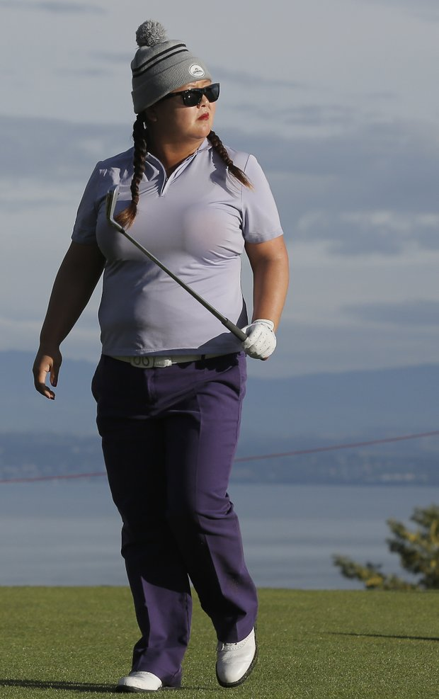 Christina Kim during the second round of the 2013 Evian Championship, the LPGA's fifth major.