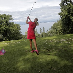 Lexi Thompson during the second round of the 2013 Evian Championship, the LPGA's fifth major.