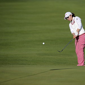 Mika Miyazato during the second round of the 2013 Evian Championship, the LPGA's fifth major.