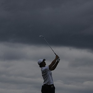 Gwladys Nocera during the second round of the rain-shortened 2013 Evian Championship, the LPGA's fifth major.