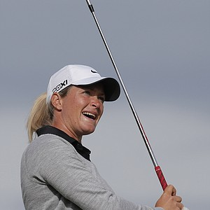 Suzann Pettersen during the second round of the 2013 Evian Championship, the LPGA's fifth major.