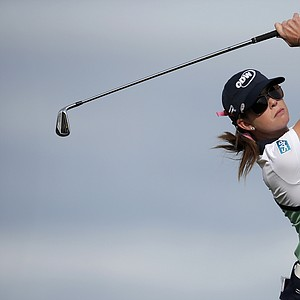 Paula Creamer during the second round of the 2013 Evian Championship, the LPGA's fifth major.