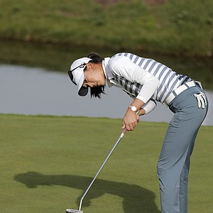 Michelle Wie during the second round of the 2013 Evian Championship, the LPGA's fifth major.