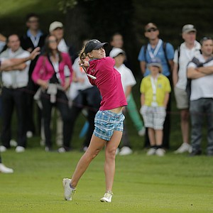 Belen Mozo during the second round of the 2013 Evian Championship, the LPGA's fifth major.