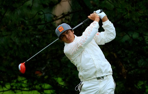 Rickie Fowler during Sunday's rainy final round of the 2013 BMW Championship, the third event of the PGA Tour's FedEx Cup playoffs, at Conway Farms near Chicago.