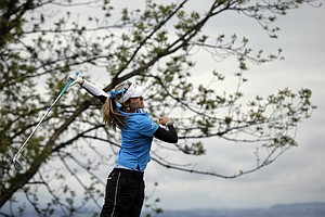 Lexi Thompson during Sunday's final round of the 2013 Evian Championship, the LPGA's fifth major, in France.