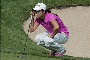 Lydia Ko during Sunday's final round of the 2013 Evian Championship, the LPGA's fifth major, in France.