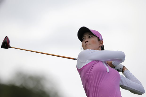 Michelle Wie during Sunday's final round of the 2013 Evian Championship, the LPGA's fifth major, in France.
