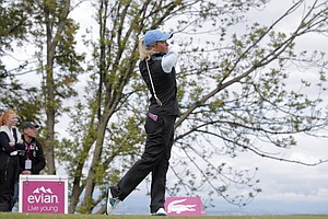 Suzann Pettersen during Sunday's final round of the 2013 Evian Championship, the LPGA's fifth major, in France.