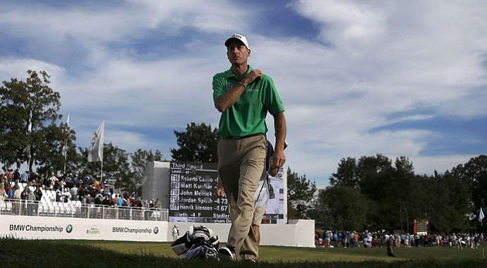 Jim Furyk during the BMW Championship, the third event of the 2013 FedEx Cup playoffs, at Conway Farms near Chicago.