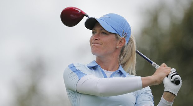Suzann Pettersen during the final round of the 2013 Evian Championship in France, the LPGA's fifth major.