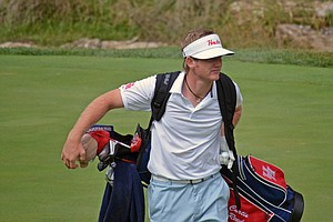 Houston's Curtis Reed during the second round of the Golfweek Conference Challenge at Spirit Hollow Golf Course.
