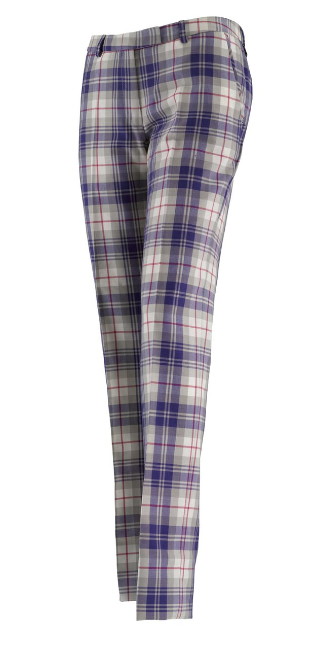 Signature Ian Poulter tartan pants will be more feminine for the IJP Design ladies collection.