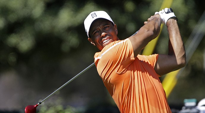 Tiger Woods during the first round of the 2013 Tour Championship, the final FedEx Cup playoffs event, at East Lake in Atlanta.