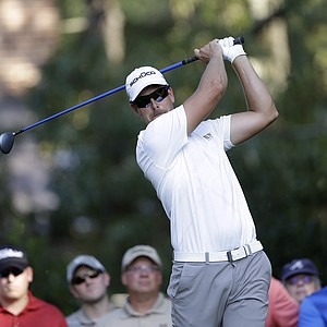 Henrik Stenson during Thursday's first round of the Tour Championship, the final event of the 2013 FedEx Cup playoffs on PGA Tour, at East Lake in Atlanta.