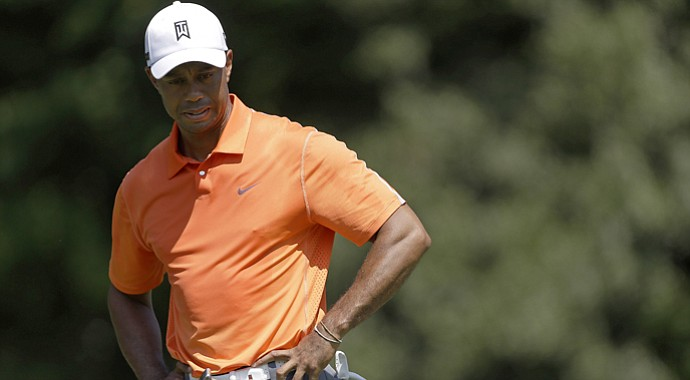 Tiger Woods during the first round of the 2013 Tour Championship at East Lake in Atlanta.