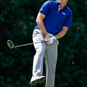 Jordan Spieth during Friday's second round at the Tour Championship, the final event of the 2013 FedEx Cup playoffs on PGA Tour, at East Lake in Atlanta.