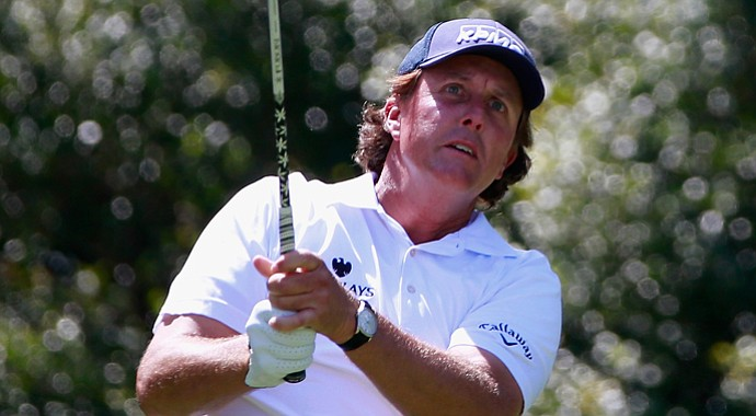 Phil Mickelson during Friday's second round of the 2013 Tour Championship at East Lake in Atlanta.