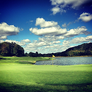 The par-5 seventh at The Golf Club of Tennessee.