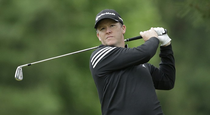 Marcus Fraser during the 2013 U.S. Open at Merion.