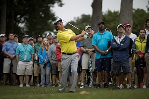 Jason Dufner during Saturday's third round of the Tour Championship, the final event of the 2013 FedEx Cup playoffs on PGA Tour, at East Lake in Atlanta.