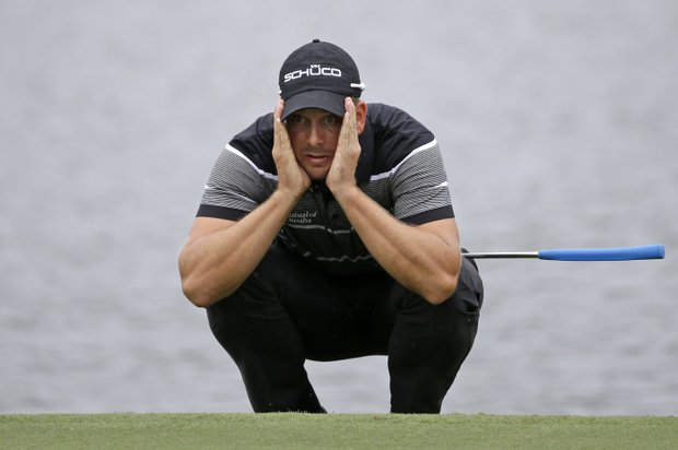Henrik Stenson during Saturday's third round of the Tour Championship, the final event of the 2013 FedEx Cup playoffs on PGA Tour, at East Lake in Atlanta.
