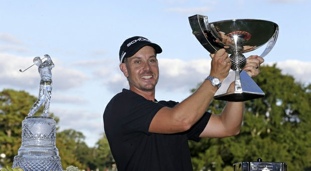 Henrik Stenson after winning the 2013 FedEx Cup with his victory in the Tour Championship at East Lake in Atlanta.