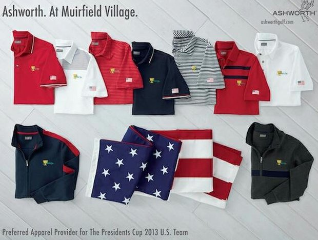 Ashworth's apparel for Team USA at the 2013 Presidents Cup.