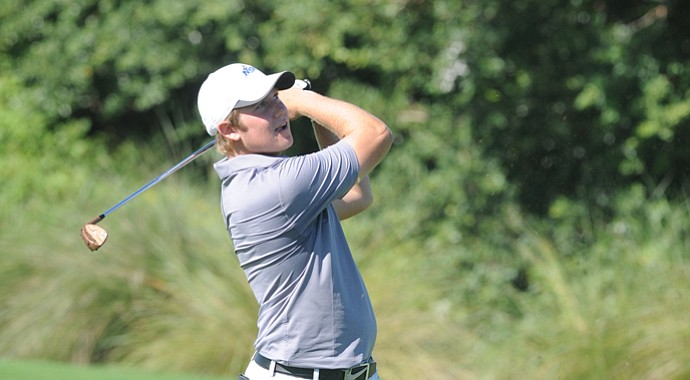 Mitch Farrer of the Nova Southeastern men's golf team during the 2012-13 season.