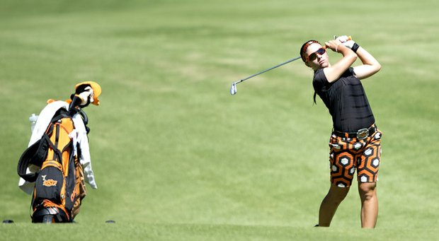 Casie Cathrea tied for 12th at the Dale McNamara Fall Preview, her first start as a Cowgirl.