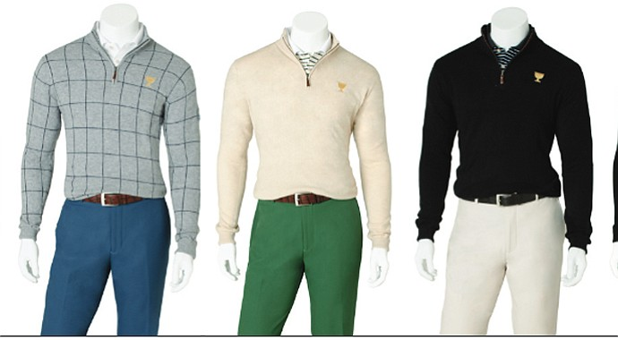 Three outfits for the International Team during the 2013 Presidents Cup by Peter Millar.