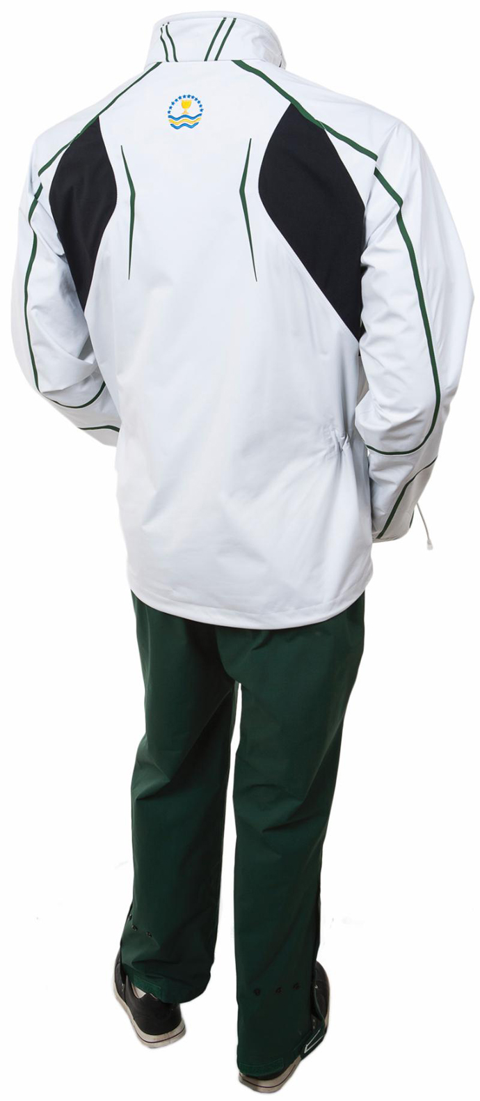 The rain gear (back) for the International Team at the 2013 Presidents Cup.