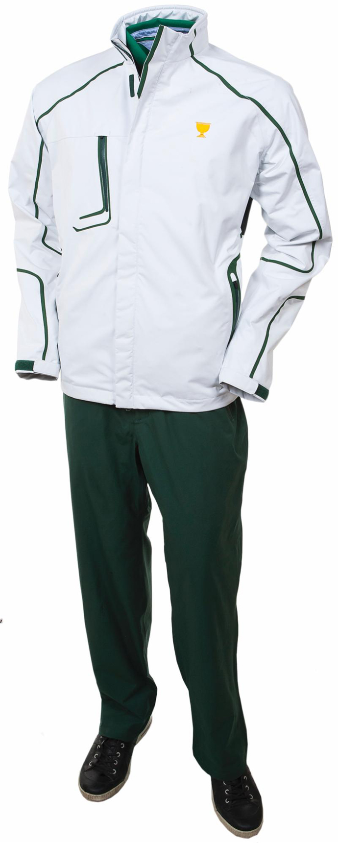 The rain gear (front) for the International Team at the 2013 Presidents Cup.