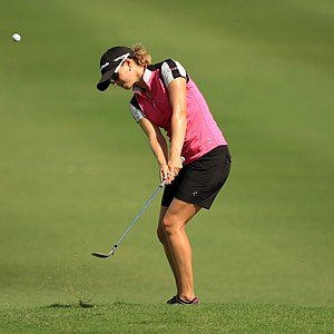 Daytona, Fla.--09/29/13--Katy Harris at the Symetra Tour Championship Presented by Embry-Riddle Aeronautical University, during the third round.--(Photo by Tracy Wilcox/GOLFWEEK)