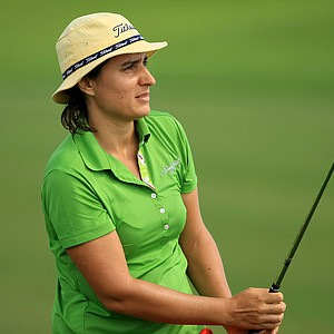 Fiona Puyo at the Symetra Tour Championship Presented by Embry-Riddle Aeronautical University, during the third round.