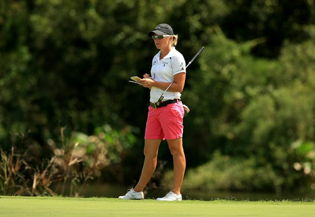 Alena Sharp at the Symetra Tour Championship Presented by Embry-Riddle Aeronautical University, during the final round.