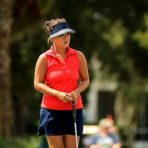 Hannah Jun at the Symetra Tour Championship Presented by Embry-Riddle Aeronautical University, during the third round.